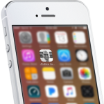 Image of an iPhone displaying the mobile home screen icon for andrewleesmith.com