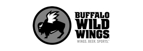 Image of the Buffalo Wild Wings logo. Buffalo Wild Wings is a brand for which Art Director and Designer Andrew Lee Smith has done creative work.
