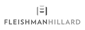 Image of the FleishmanHillard logo. FleishmanHillard is a client of Art Director and Designer Andrew Lee Smith