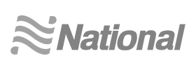 Image of the National Car Rental logo. National was a client of Art Director and Designer Andrew Lee Smith