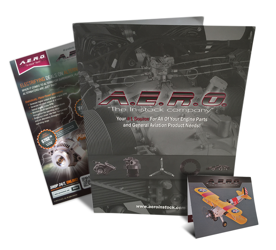 Image of marketing collateral that Andrew Lee Smith designed for aviation client A.E.R.O., Inc.-1