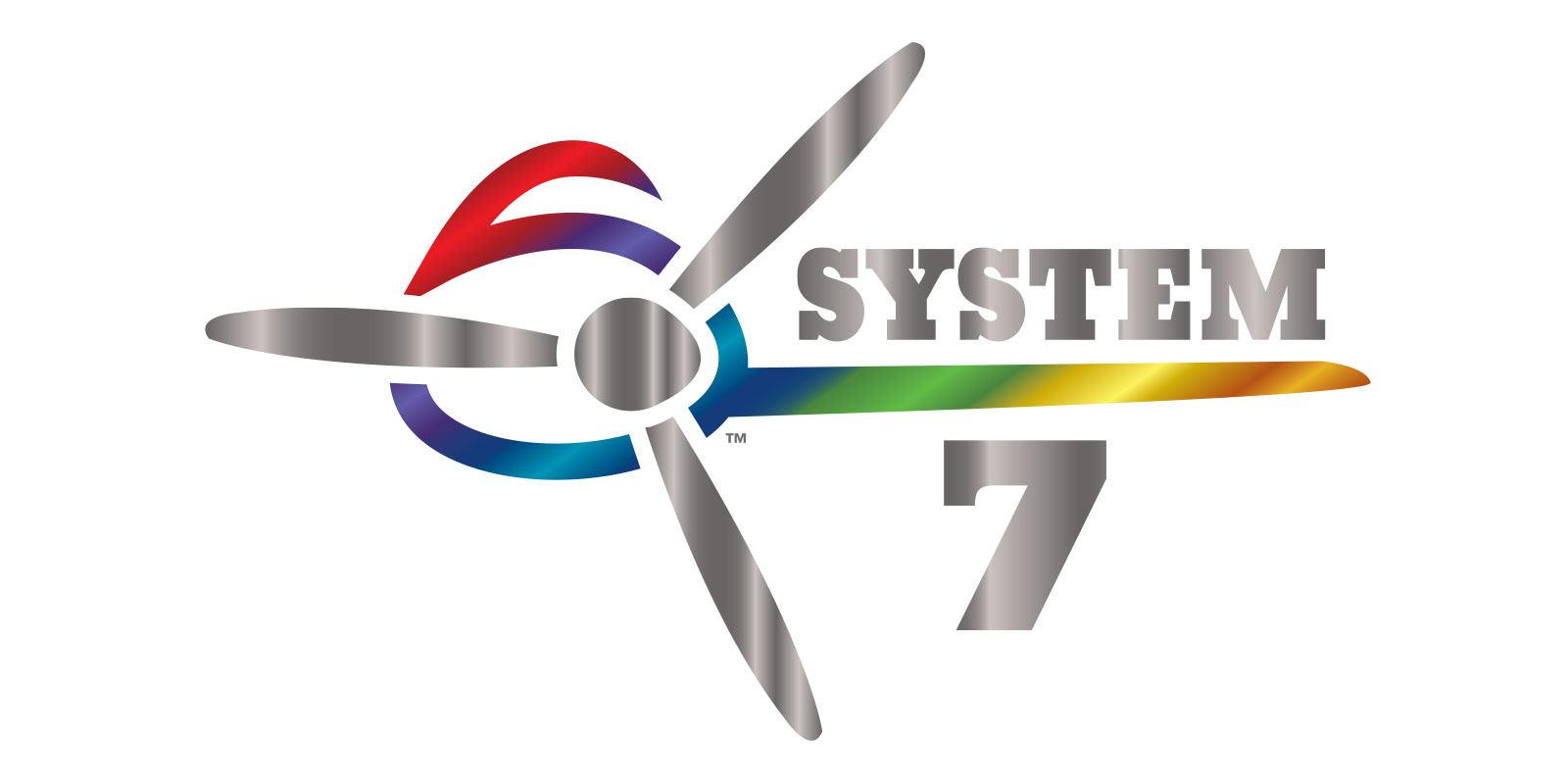 Image of the final full-color logo created for the Superflite System 7 aircraft covering system